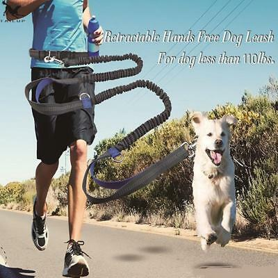 Pet Dog Running Leash Rope with2 handles DogJoging Walking Leash with Reflective