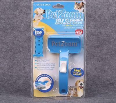 PetZoom Brush for Dogs and Cats Pet Grooming Brush Removes Mats and Tangles For