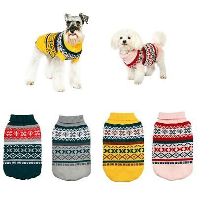 pet dog clothes winter warm dog coat jumpsuit christmas sweater dog clothes for
