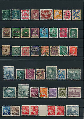 Germany, Deutsches Reich, Nazi, liquidation collection, stamps, Lot,used (AK 4)