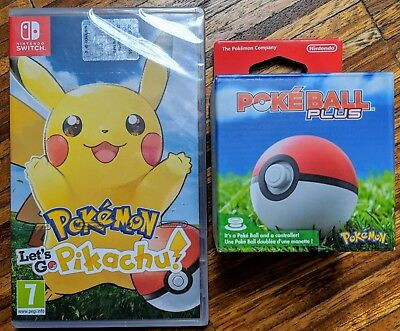 Pokemon Let's Go Pikachu! + Poké Ball Plus Ita SWITCH NUOVO SIGILLATO
