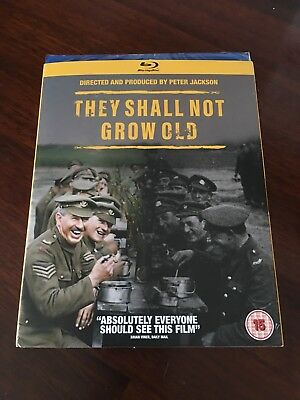 THEY SHALL NOT GROW OLD Blu-ray (2018): Peter Jackson WWI Documentary - NEW