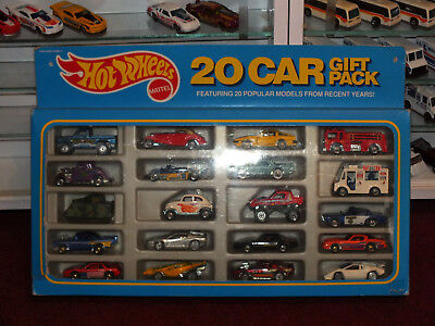 HOT WHEELS 1989 20 Car Gift Set Pack Bywayman Camaro 57 Chevy Nissan 34 Ford