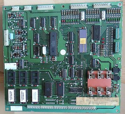 Williams Pinball System 6 Cpu MPU Board with Pokerino game ROMS. Untested
