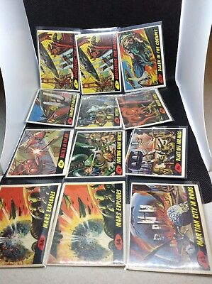 Lot Of 12 1962 Topps Mars Attacks Cards
