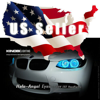 New BMW E92 M3 Multi-Color LED Halo-Angel Eyes Rings kit with RF REMOTE