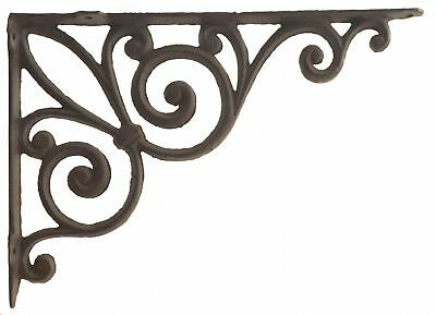 Cast Iron Wall Shelf Bracket Large Fleur De Lis Cast Iron Brace DIY Shelves