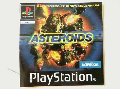 58540 Instruction Booklet - Asteroids - Sony Playstation 1 (1998) SLES 01418