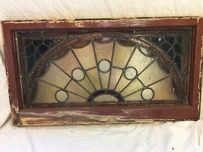 Antique Stained Glass Fanlight