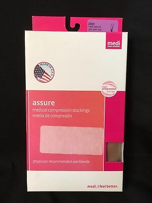MEDIVEN Medi ASSURE UNISEX 30-40 mmHg Open Toe Calf 22203 Compression Stockings