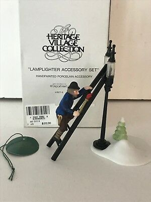 Dept 56 Lamplighter Accessory Set--Heritage Village Collection