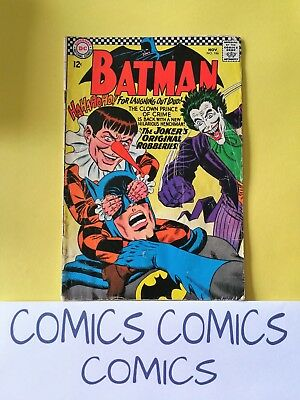Batman Vol.1 #186 Dc Comics 1966 Good Plus Gd+ 2.5