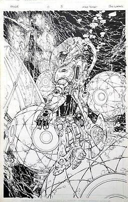 Michael Turner Original Art- Fathom #0 Splash Page