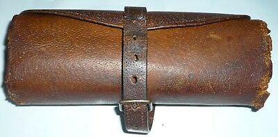 VINTAGE CUT THROAT OR STRAIGHT   7 days of week RAZOR  LEATHER ROLL