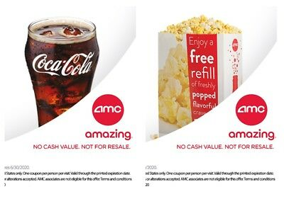 AMC Theaters - 1 Large Popcorn + 1 Large Drink - *FAST DELIVERY*