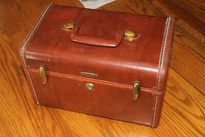 VINTAGE Leather SAMSONITE Luggage Suitcase Old RETRO HARD Case