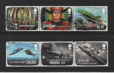 GB Stamps 2011 'Gerry Anderson - Thunderbirds' sg3136-3141 - Fine used