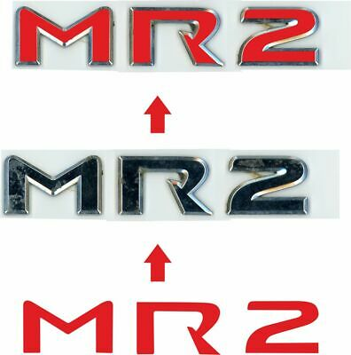 Toyota MR2 MK3 rear Badge Vinyl Overlay Decals Stickers x2! any colour