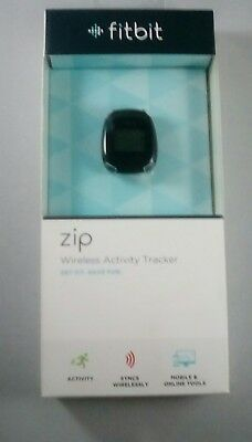 Fitbit Zip Wireless Activity Tracker - NEW IN BOX - Black with spare battery