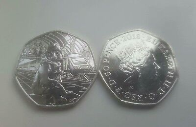 Paddington Bear 50p At The Train Station Fifty Pence Coin 50 Collectable