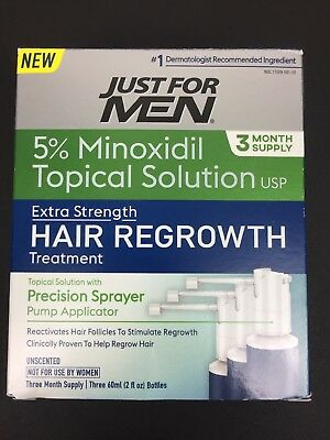 Just For Men Extra Strength Hair Regrowth Treatment 5% Minoxidil- 3 Month Supply
