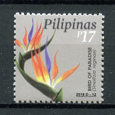Philippines 2018 MNH Bird of Paradise Flower 1v Set Plants Flowers Nature Stamps