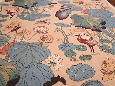 Lee Jofa GPJ Baker Fabric Pattern Nympheus Color Straw 4 Yd x 54 In Linen Nature