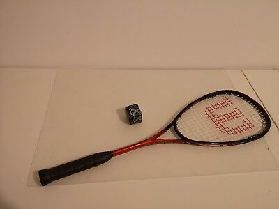 Wilson Graphite Titanium Squash Racket / Racquet with ball
