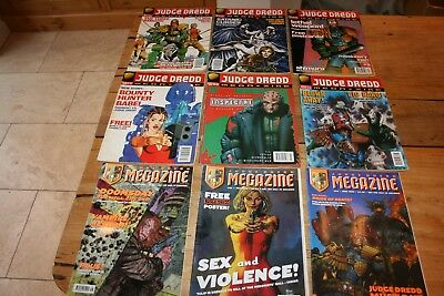 Judge Dredd Megazine Comic Job Lot Bundle - 9 Comics - 1995, 96, 97, 98 & 99