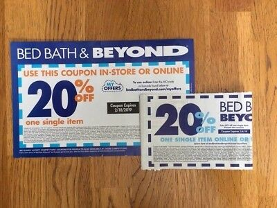 2 Bed Bath & Beyond 20% off 1 Item Coupon ONLINE OR IN-STORE Exp 02/18 & 2/4/19