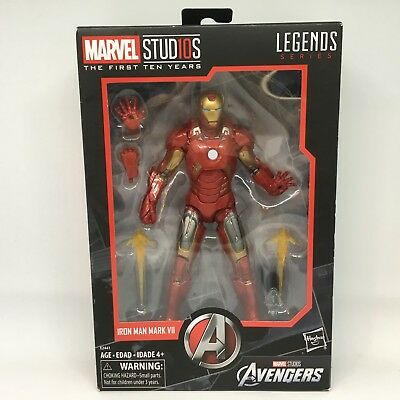 "Marvel Legends First 10 Years Legends Series Iron Man 6"" Mk VII Mark 7 NEW"