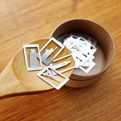 20PCS Cute Exquisite Mini Metal Bookmarks School Office Book Note Clips with Box
