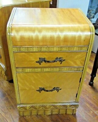 Art Deco Waterfall cabinet end table or nightstand