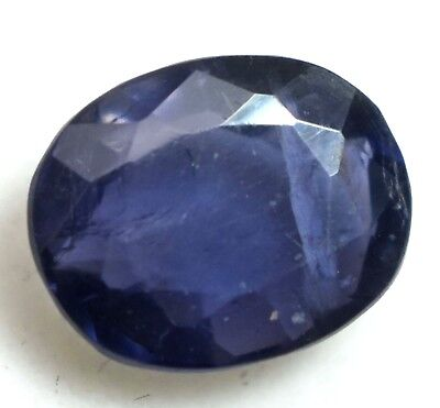 3.25 Ct Natural Purple Tanzania Iolite AGSL Certified Untreated Oval Top Quality