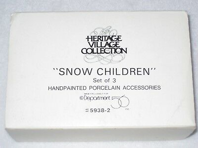 Snow Children Department 56 New England Village Set Of 3 1988 5938-2 Used