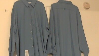 Armorex Brand By Unifirst Pre-Owned Flame-Resistant  Work Shirts ( 3XL-Rg ) Blue