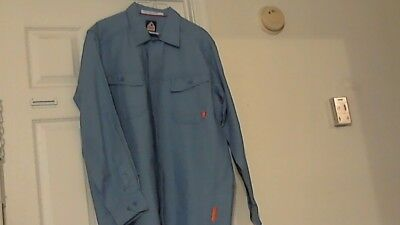 New Bulwark Flame-Resistant Safety Work Shirt  ( XXL-LN ) Blue W / O Tags