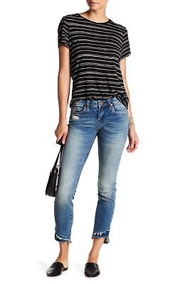 New Blank NYC Distressed Frayed Bottom Skinny Classique Womens Happy Jeans