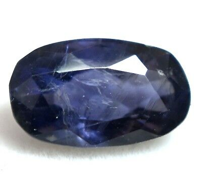3.25 Ct Natural Purple Tanzania Iolite Gem Stone AGSL Certified Oval Top Quality