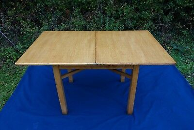 King George VI Vintage Small Table, Government Issued Table Folding Dining Table