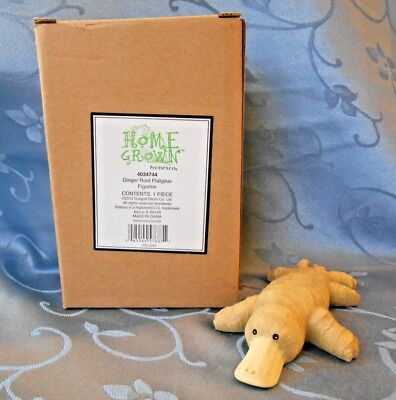 """Enesco """"Home Grown Collection"""" Ginger Root Platypus # 4034744 NIB"""
