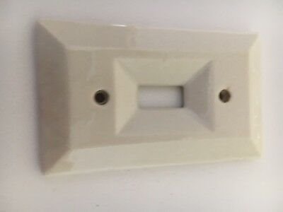 Vintage Porcelain Switch Cover Plate Knox 8378 U.S.A.