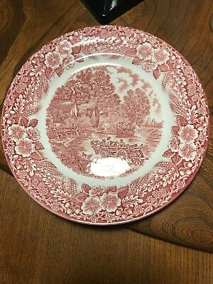 "Broadhurst Ironstone The Constable Series 1776-1976 Plate - 9.5"" Pink"