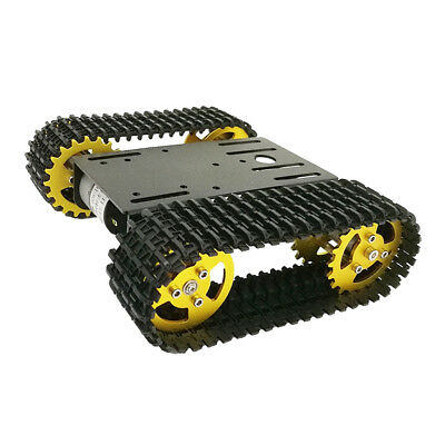Smart Phone Remote Control Robot Car Tank Chassis Kit with 2x 12V Motors