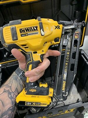 dewalt second fix nail gun With 2 X 2 Amp 18 Volt And Dewalt Box To Store.