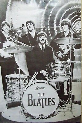 The Beatles Live Black & White Poster 24 X 36