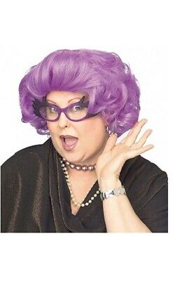 The Dame Edna Everage Purple Adult Womens Wig