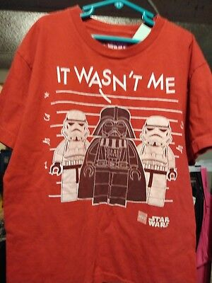 589efda1d Lego Star Wars Darth Vader and storm troopers short sleeve boys t shirts