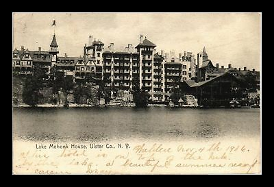 Dr Jim Stamps Us Lake Mohonk House Ulster County New York View Postcard