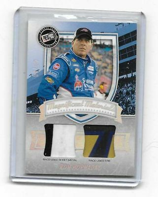 2011 Press Pass FanFare Magnificent Materials DUAL Swatches Ron Hornaday 8/50